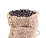 Sunflower seeds in sack Stock Photo