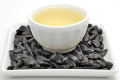 Sunflower Seeds With Oil Royalty Free Stock Photography