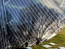 Sunflower shaped self controlled solar panel stock images