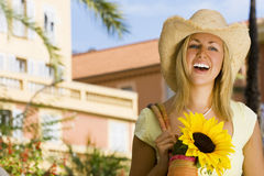 Sunflower Smiles royalty free stock photo