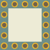 Sunflower Square Frame. Square frame featuring sunflowers, texture, and an area for text/content Royalty Free Stock Photos