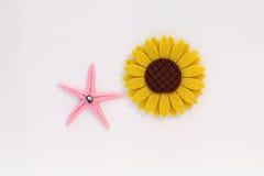 Sunflower and Starfish Stock Image