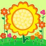 Sunflower summer card Royalty Free Stock Photos