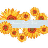 Sunflower Summer poster card Royalty Free Stock Images
