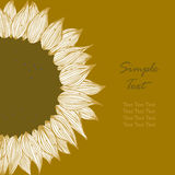Sunflower text banner Royalty Free Stock Photography