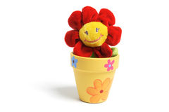 Sunflower Toy in Pot Stock Images
