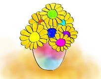 Sunflower Vase Artwork Stock Image
