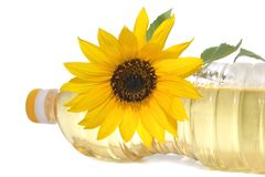 Sunflower and vegetable oil Stock Image