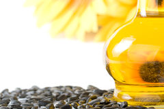 Sunflower and vegetable oil Stock Images