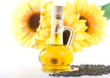 Sunflower and vegetable oil Royalty Free Stock Image