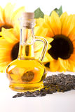 Sunflower and vegetable oil Royalty Free Stock Images