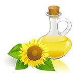 Sunflower and vegetable oil Stock Photography