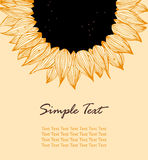 Sunflower vertical text banner Royalty Free Stock Photo