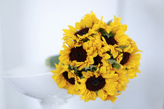 Sunflower wedding bouquet Stock Photo