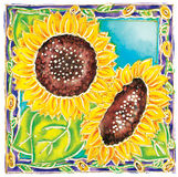 Sunflowers royalty free illustration