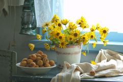 Free Sunflowers And Apricots Stock Image - 32337881