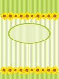 Sunflowers card Royalty Free Stock Photos