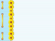 Sunflowers card template Stock Photo