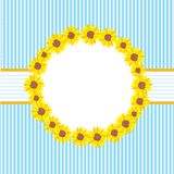 Sunflowers card template Stock Photos