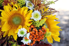 Sunflowers. Decoration with flowers, still life Stock Photos