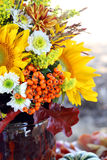 Sunflowers. Decoration with flowers, still life Royalty Free Stock Image
