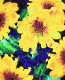 Sunflowers Digital Art Background Royalty Free Stock Photography