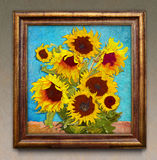 Sunflowers, digital artwork like an impressionist  Royalty Free Stock Photo