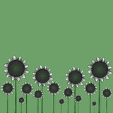 Sunflowers flat vector Royalty Free Stock Photos