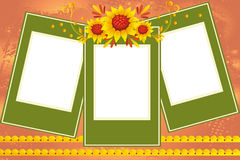 Sunflowers frame. Vector illustration of sunflowers frame for special occasions Stock Photography