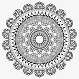 Sunflowers mandala, abstract texture background Royalty Free Stock Photography