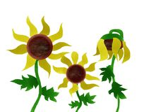 Sunflowers Painting Stock Image