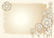 Sunflowers postcard Royalty Free Stock Images