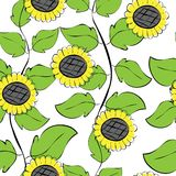 Sunflowers repetition Royalty Free Stock Photo