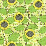 Sunflowers repetition Stock Photo