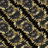 Sunflowers seamless pattern. Modern floral  background. Flowers. Wallpaper Royalty Free Stock Photos