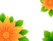Sunflowers spring banner Stock Photography