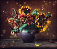Sunflowers. Still life with a bouquet of sunflowers Royalty Free Stock Photo