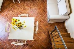 Sunflowers on the table Stock Photos