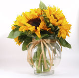 Sunflowers in Vase. Photo of sunflowers Stock Photo