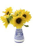 Sunflowers in a vase Royalty Free Stock Photos