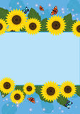 Sunflowersframe6 Images stock