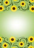 Sunflowersframe3 Image stock