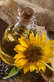 Sunflowr and oil Stock Photography