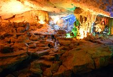 Sung Sot Cave 4. Sung Sot Cave Halong Bay Vietnam stock photo