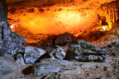 Sung Sot Cave 2. Sung Sot Cave Halong Bay Vietnam royalty free stock images