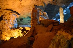 Sung Sot Cave 9. Sung Sot Cave Halong Bay Vietnam stock photo