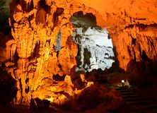 Sung Sot Cave 8. Sung Sot Cave Halong Bay Vietnam stock photo