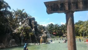 Sungai Klah Hotspring, Malaysia. Felda Residence Hot Springs is a 6.5 hectare water theme park at Sungai Klah, a village hidden deep in the countryside of Stock Photos