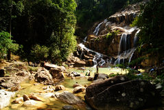 Sungai Pandan Waterfall. View of the Sungai Pandan Waterfall at Kuantan, Pahang, Malaysia Royalty Free Stock Photography