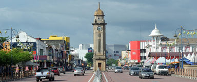 Sungai Petani Clock Tower. The major of Sungai Petani is a clock tower on the main street, Jalan Ibrahim. The clock tower was built in 1936. It is 12.1 m in Royalty Free Stock Image